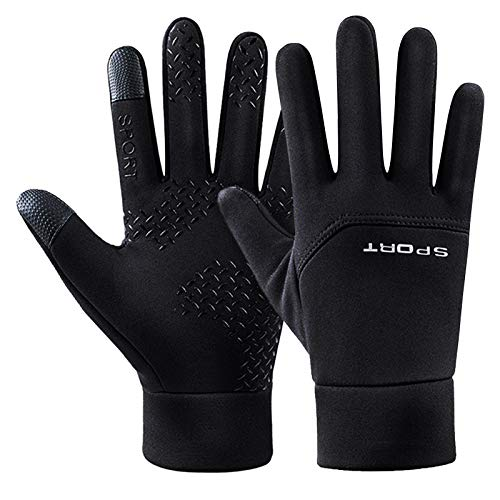 Winter Cycling Gloves Touchscreen Gloves Full Finger Mountain Gel Padded Warm Bike Gloves Anti-slip Windproof Water-Repellent Thermal Winter Sports Gloves for Men Women