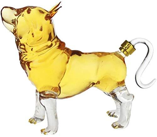 Rosso bicchiere di vino Decanter a forma di cane da 1000ml, alta bottiglia di vino di vetro borosilicato, bottiglia di vino in vetro a forma di cane cavo per liquori, scotch, bourbon, vodka, regalo a