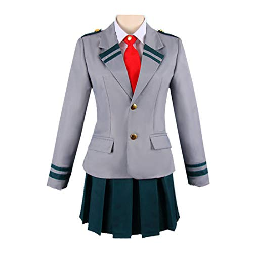 Anime Costume Cosplay, Teakpeak My Hero Academia Cosplay Uniforme Ochaco Uraraka Cosplay -Gonna Uniforme Scolastica Giapponese