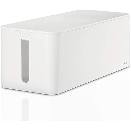 Hama - Caja de cables Maxi, 40 x 15.5 x 13.8 cm, con pies de goma, blanca