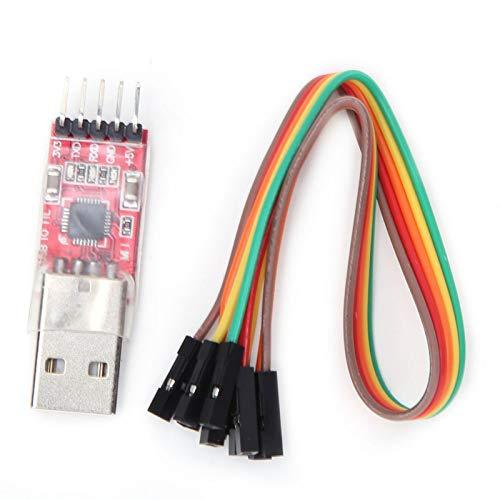 Módulo CP2102 Adaptador convertidor en serie de módulo USB a TTL de 5 pines con cable de puente, cable Dupont de 4 pines compatible con Windows 7,8,10