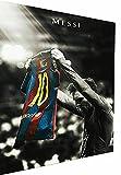 Magic Canvas Art - Cuadros de fútbol de Lionel Messi, lienzo de 1 pieza, impresión artística de alta calidad, moderno mural, diseño de pared, tamaño: 150 x 100 cm