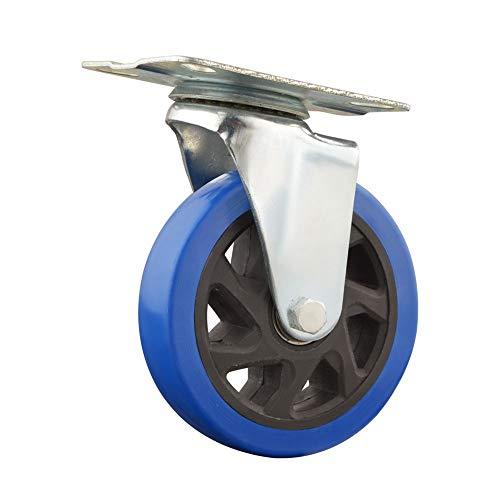 YDHG Caseras de Muebles 2 unids sin Bloqueo de Freno de Servicio Pesado 4pcs Pack Ruedas giratorias Mudo con Placa Superior (2pcs con Bloqueo de Freno para Muebles (Color : Blue, Size : 4in)