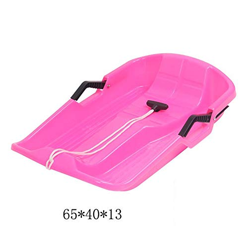 ZMXZMQ Winter Toboggan Sneeuwslee, Heavy Duty Sledge Slee Slee, 2 Touwen Plastic Kids Fun Board