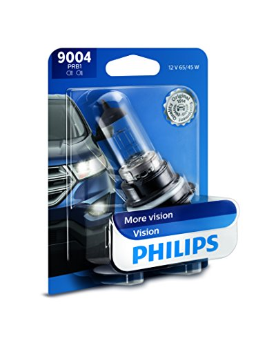 Philips 9004 Upgrade Headlight Bulb with up to 30% More Vision