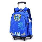 A-Nice Trolley-Tasche Sechsrädrige Trolley-Schultasche Mädchen Kinder Schulrucksack Kinder...