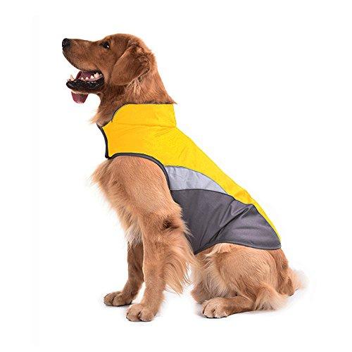 SILD Dog Jacket Outdoor Indoor Activities Waterproof Windproof Reflective Dog Cold Weather Winter Coat Dog Vest Autumn Pet Apparel for Small Medium Large Dog (XXL, Orange)