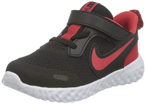 Nike Jungen Unisex Kinder Revolution 5 Running Shoe, Black/University Red-White, 23.5 EU