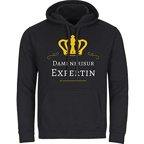 Multifanshop Kapuzen Sweatshirt Damenfrisur Expertin - schwarz - Größe S bis 3XL, Größe:XXXL
