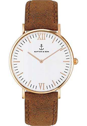 Kapten & Son Unisex-Uhren 40 Braun 32005330