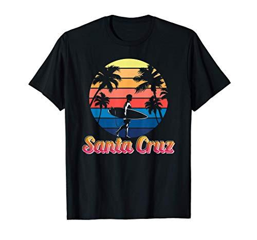 Santa Cruz Vintage Beach Sunset California Summer Santa Cruz Camiseta