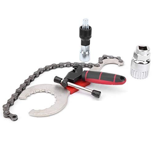 Juego de herramientas de bicicleta con llave de cadena Super multifuncional, para mantenimiento de bicicletas