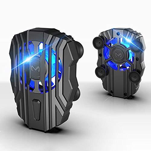 Aoile Enfriador de teléfono móvil Radiador de teléfono silencioso para Controlador PUBG Manija Ventilador de enfriamiento de luz LED