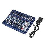 HODOY 6 / 7Channel Audio Mixer con 48 V Phantom Power Mixing Console USB MP3 Audio Mixer a...