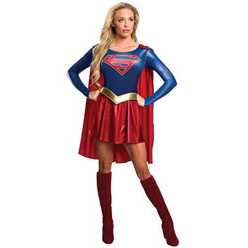 Rubie's offizielles Supergirl-T-Shirt-Kostüm für Damen (TV-Serie), Erwachsenen-Kostüm, Größe S