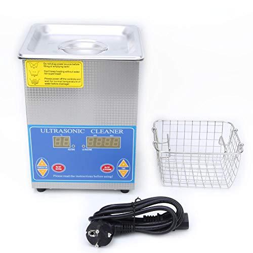Fafeicy 113HTD 1.3L Limpiador ultrasónico, suministros de limpieza de laboratorio de calentamiento de sincronización digital de acero inoxidable (0-80 ° C)(EU Plug 200-240V)
