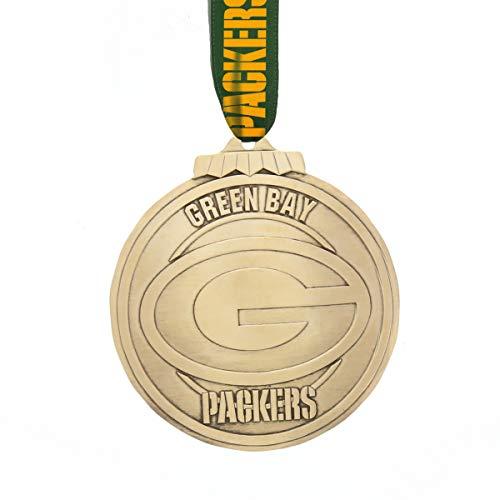 Wendell August Green Bay Packers Klassische Runde Ornament (Bronze)