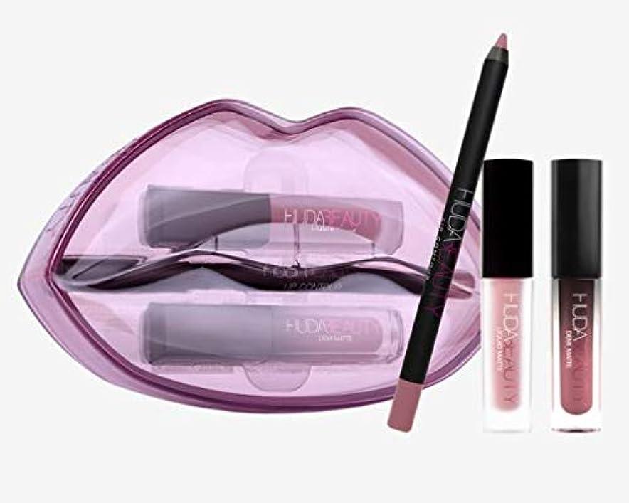 閉じる隣人不規則性Hudabeauty Matte & Cream Lip Set Provocateur & Muse リップセット マットリップ