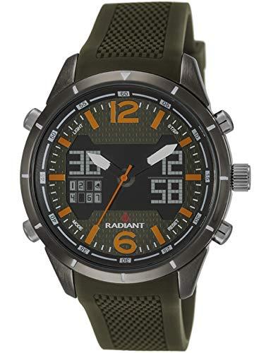 Radiant Reloj Analógico-Digital para Hombre de Cuarzo con Correa en Caucho RA457602