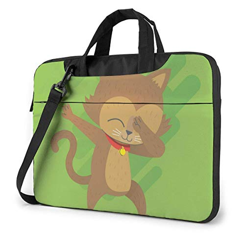 Cute Cat Dabbing (6) Laptop Sleeve Case 15.6 Inch Computer Tote Bag Shoulder Messenger Briefcase for Business Travel