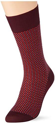 FALKE Herren Socken Uptown Tie, Baumwolle, 1 Paar, Rot (Barolo 8526), 45-46 (UK 10-11 Ι US 11-12)