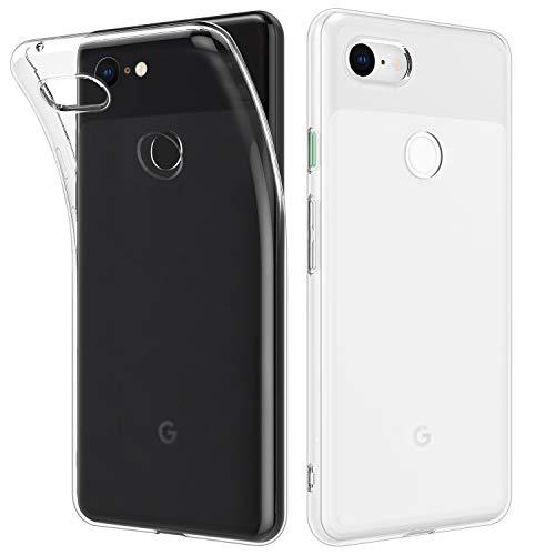 MoKo Google Pixel 3 Hülle, [2 Stück] Ultra Dünn Kratzfeste Schutzhülle Soft TPU Silikon Kristall Durchsichtige Phone Case für Google Pixel 3 - Transparent + Transparent