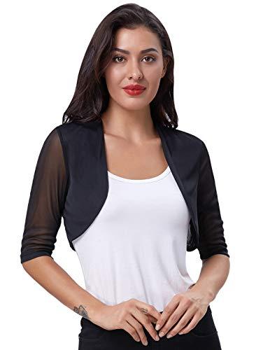 Fashion Bolero Damen Shrugs kurz festlich Bolerojacke hülsen Bolero XL CL026-1