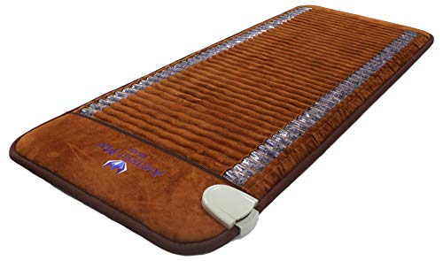 "Far Infrared Amethyst Mat Professional 73'L x 29""W - Made in Korea - Deep Penetration FIR Heat - Ion Therapy - Jewelry Grade Natural Amethyst - FDA Registered Manufacturer - Heating Pad with Crystals"