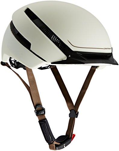 Cratoni Fahrradhelm C-Loom, Weiß (Creme Rubber), Gr. 58-62 cm/M-L
