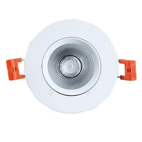 BDSHL Lámpara de Techo COB con Ángulo de Luz Ajustable Empotrable Tipo Globo Ocular Downlight para Foco de Iluminación Empotrable de Interior, 4 Colores de Luz 10 Potencia