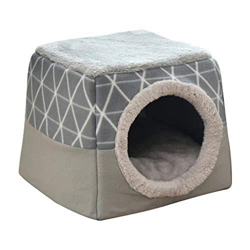 Katzenhöhle für kleine Katzen, Waschbare Kuschelhöhle, Iglu Haustierbett, rutschfest, faltbar als Katzenhaus oder Katzenbett