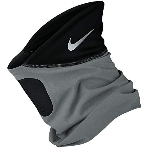 Nike Shield Phenom Running Neckwarmer Scaldacollo Running (Smoke Grey/Black/Silver, S)