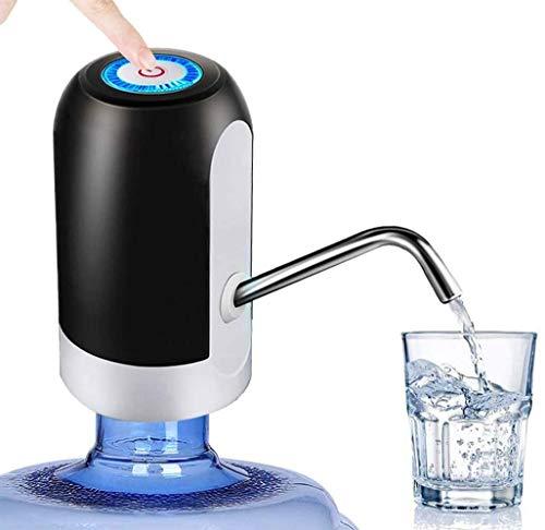 EUPIONEER - Dispenser di Acqua, Pompa dell'acqua elettrica, universale Gallon, distributore di acqua potabile, portatile, luce LED, USB, pompa per acqua, dispenser per bevande, utensile da cucina nero