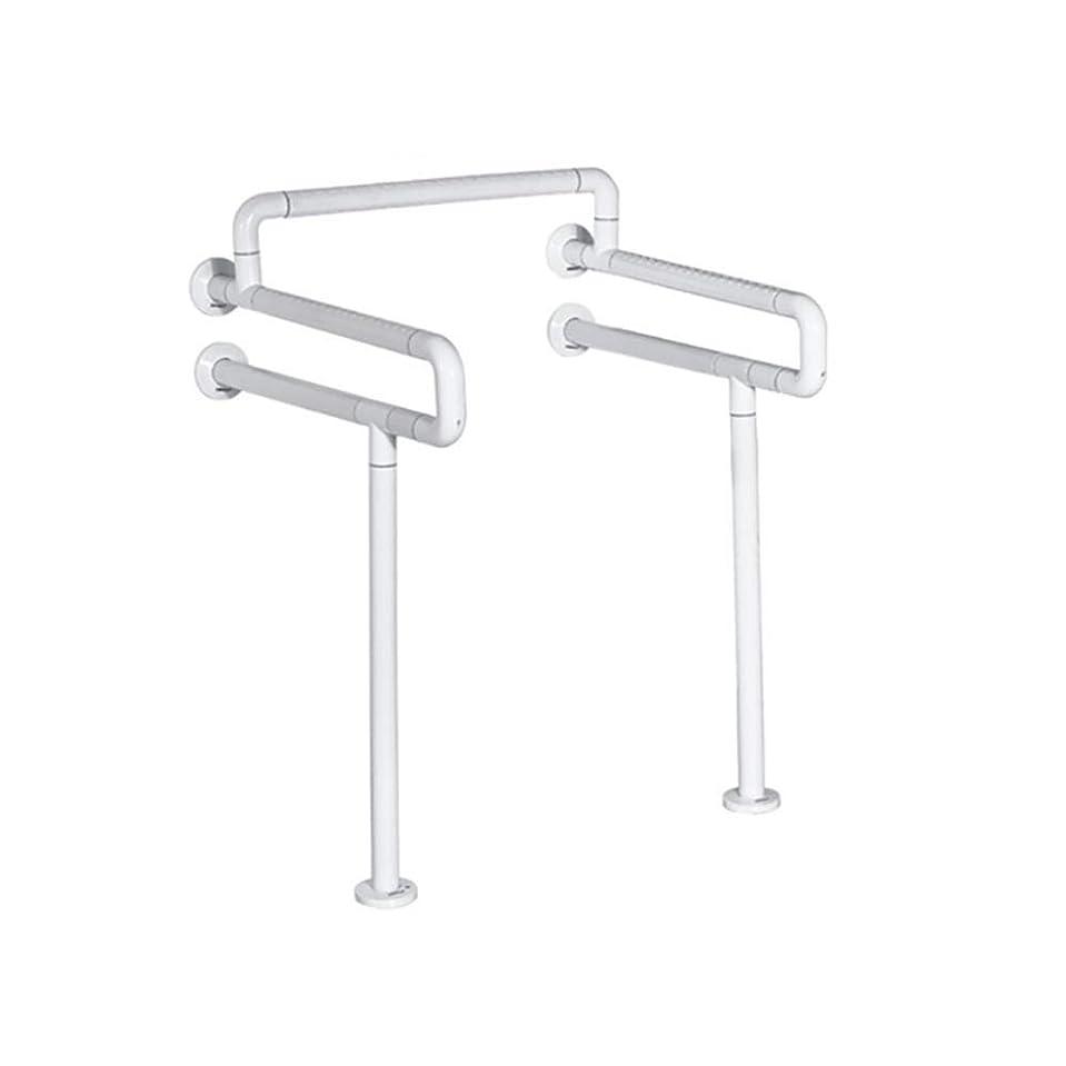 ガラス混乱したゲート白い浴室の肘掛け-高齢者の安全滑り止めナイロン/ステンレス鋼の手すり、バリアフリートイレ/トイレダブルハンドル/浴室の手すり、620 * 600 * 850MM 安全性