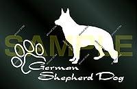 アトリエDOM 少し大きめ 犬のステッカー ジャーマンシェパードドッグ [白](受注生産) シェパード ステッカー