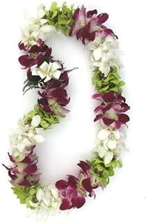 Fresh Hawaiian Lei - Colorful Mixed Double Orchid Lei