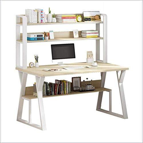 Lesbye Desk and Bookshelf Combination Computer Desk Table, Student Bookcase Desk Integrated Small Table,100 * 50cm