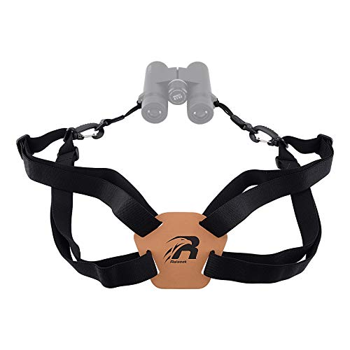 Raiseek Optics Binocular Harness Strap Adjustable Stretchy, Camera Chest Harness with 2 Loop Connectors, Hunting Accessories