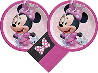 Minnie Mouse Party Supplies Bundle with Luncheon Plates and Napkins for 16 Guests