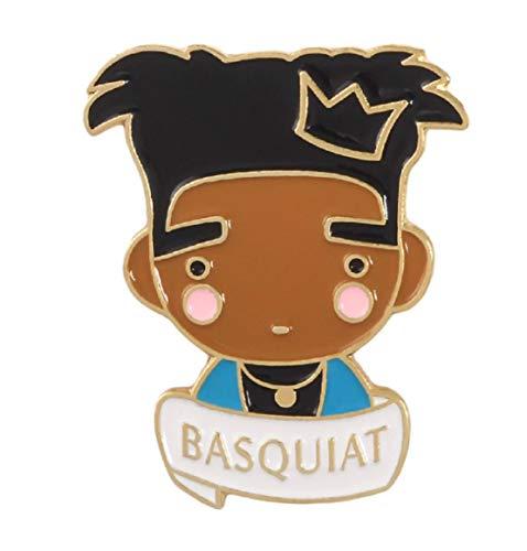 FTH Jean-Michel Basquiat Enamel Pin.Neo-Expressionist Painter, Graffiti Artist,& Poet.Wear on Your Denim Jacket, or Back Pack