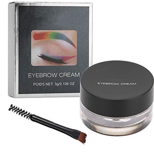 Crème pour les sourcils, 12 couleurs longue durée imperméabilisants Gel pommade Enhancers Gel pour les sourcils crème beauté maquillage cosmétique avec brosse pour le maquillage des sourcils(3#)