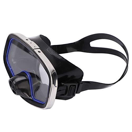 Ponacat Schwimm-Taucherbrille Nicht Leckende Klare Weitsicht-Schnorchelmaske mit Verstellbarem Riemen Brille mit Gehärteter Linse Schnorchel-Profibrille für Erwachsene Jugendliche im