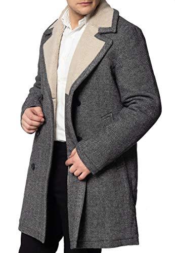 Fraser, Mantel Tweed Herren mit Futter Borg Gr. X-Small, Dubkelgrau