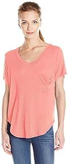 Paper + T-Shirt Women's V-Neck One Pocket T-Shirt