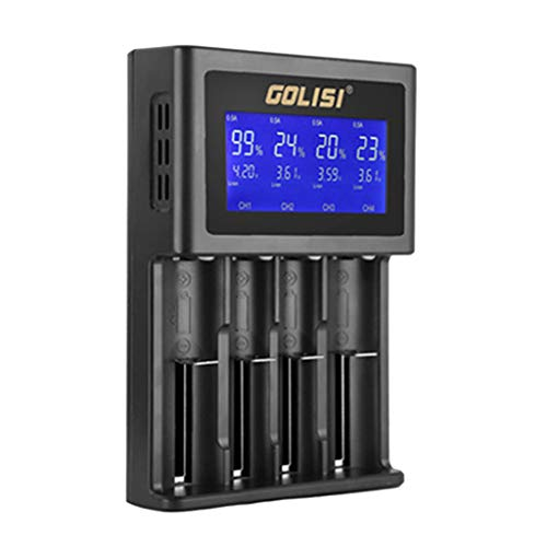 Huangou  Battery Charger  Golisi S4 LCD Display Smart Battery Charger for Lithium-ion/NI-cd/Ni-MH/AAA/AA (Black, Free)