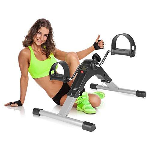 DXQDXQ Schwingen Stepper Mini Bike, Mini-Heimtrainer, Armtrainer und Beintrainer, Hometrainer, Pedaltrainer für Muskelaufbau, Ausdauertraining Kabellos