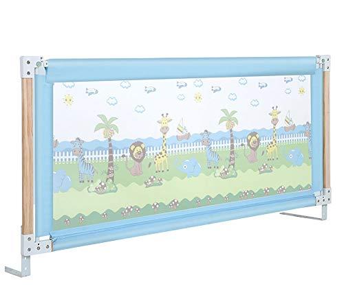 Bedrail voor Baby/Verticale Lifting Baby veiligheid nachtkastje voor peuter, stalen buis + houten val bescherming aanpassing hoogte 76-96cm