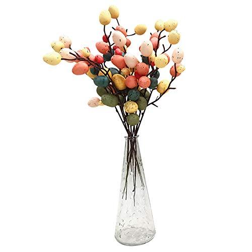 33cm Ostern Baum Dekorationen DIY Osterei SpießE Home Blumenarrangement Vase Dekoration Ostern Hochzeit Urlaub Dekor (5PCS)