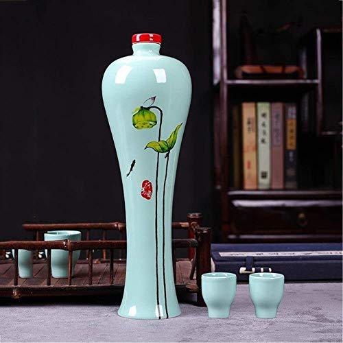 Cerámica, Barril De Madera, Botella De Vino, Porcelana Creativa Y Exquisita Barril De Vino Decorativo Tradicional Chino, Botella Vacía Decoración De Tazas Sello Creativo Conjunto De Botellas De Vino