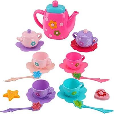 Princess Royal Tea Party Pretend Playset for Kids, 21-Piece